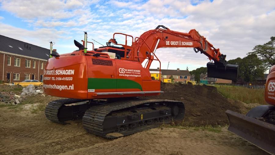 Nieuwe Case CX210D voor De Groot & Schagen