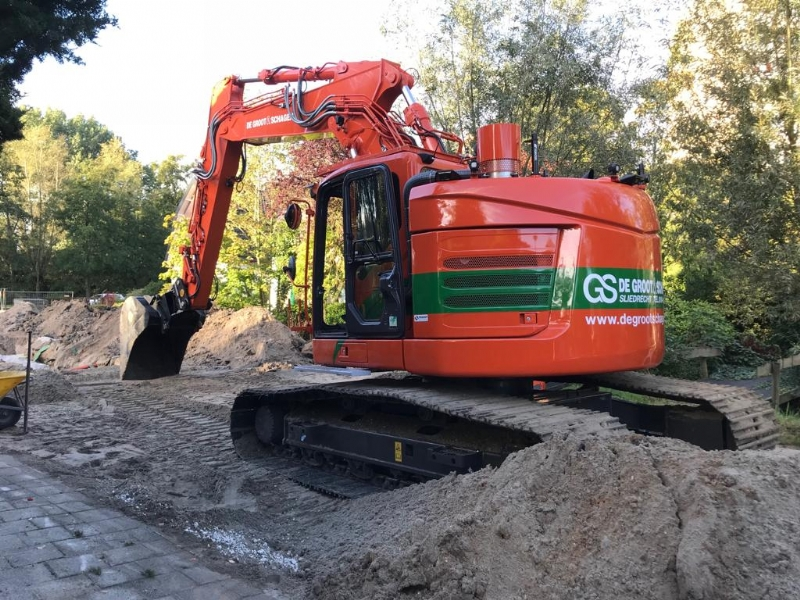 Nieuwe Case CX245D voor Aannemingsbedrijf de Groot & Schagen B.V.