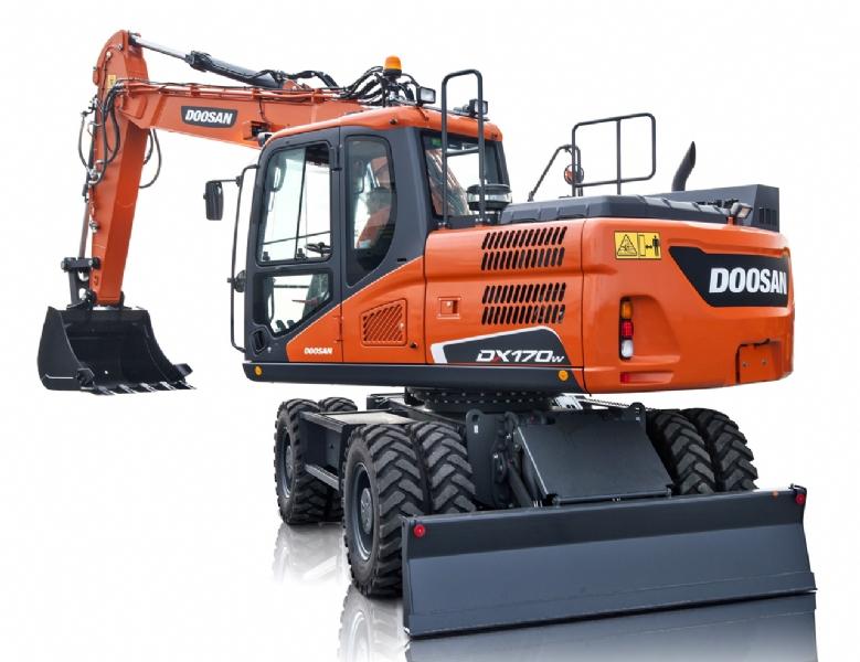 Nieuwe Doosan DX170W-5 voor Klein Recycling